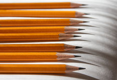 Pencils and shadows Royalty Free Stock Images