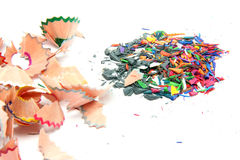 Pencils shavings Stock Photos
