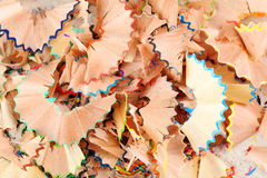 Pencils shavings background. Drawing colourful pencils shavings background, close up Royalty Free Stock Photography