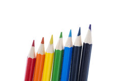 Pencils showing the colours of the rainbow Royalty Free Stock Photography
