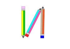 Pencils2-01 Royalty Free Stock Image