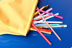 Pencils. Some colorful pencils for school Royalty Free Stock Photography
