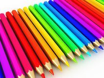 pencils spectrum Arkivbild