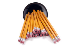 Pencils Spilling From Cup Royalty Free Stock Photos