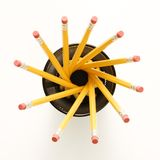 Pencils in spiral shape. Royalty Free Stock Photography