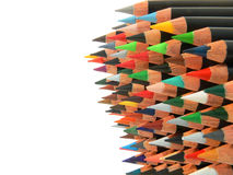 Pencils stack Stock Photos