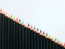 Pencils stairs Stock Photo