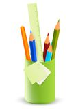 Pencils in the stand Royalty Free Stock Image