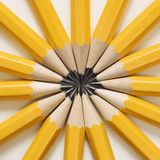 Pencils in star shape. stock photography