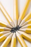 Pencils in star shape. Stock Photos
