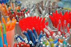 Pencils in store. Store of pencils royalty free stock photo