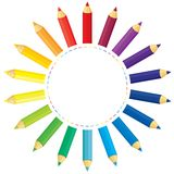 Pencils sun Stock Photos