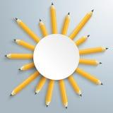 Pencils Sun Circle Royalty Free Stock Image