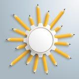 Pencils Sun Gear Wheel Stock Image