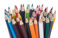 Pencils team Royalty Free Stock Image