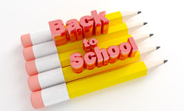 Pencils with text Back to school. Stock Image