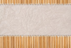 Pencils , texture of paper as background Royalty Free Stock Images