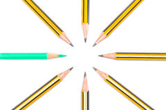 Pencils together Stock Image
