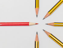 Pencils together Royalty Free Stock Images