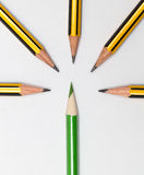 Pencils together Royalty Free Stock Photos