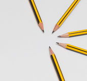 Pencils together Royalty Free Stock Image