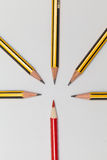 Pencils together Stock Photo