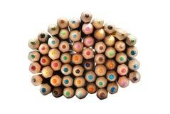 Pencils top view stock image