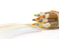 pencils trä arkivbilder