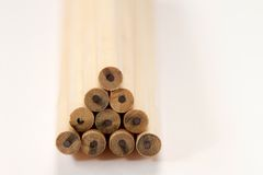 pencils trä Arkivfoto