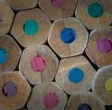pencils trä Arkivfoton