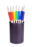 Pencils with tubes Stock Images