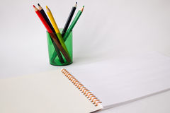 Pencils. Using colored pencils can draw a beautiful picture royalty free stock image