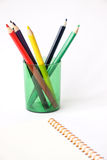 Pencils. Using colored pencils can draw a beautiful picture royalty free stock images