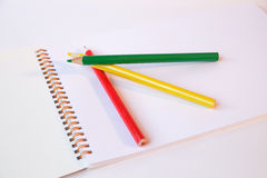 Pencils. Using colored pencils can draw a beautiful picture Stock Images