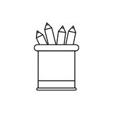 Pencils on vase Royalty Free Stock Images