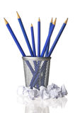 Pencils and wastepaper Royalty Free Stock Images