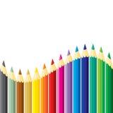 Pencils wave. Color Pencils wave. Vector illustration royalty free illustration