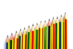 pencils white Arkivbilder