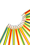 Pencils on white. Royalty Free Stock Photography