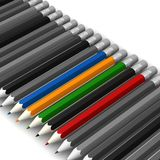 Pencils on white background Royalty Free Stock Photography