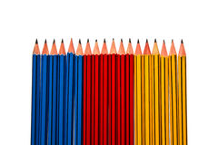 Pencils on White Background Stock Photo