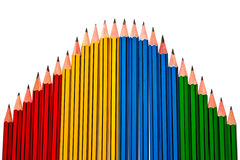 Pencils on White Background Royalty Free Stock Images