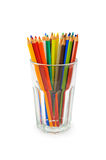Pencils on the white background Stock Photography