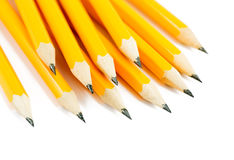 pencils on a white Royalty Free Stock Images