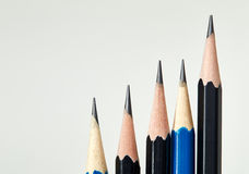 Pencils. On a white background stock photos