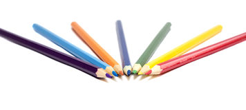 Pencils  on white background, Back to school Royalty Free Stock Photography