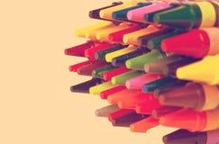 Pencils on white background Stock Photos