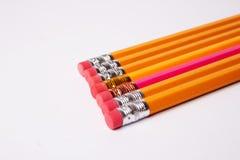 Pencils on white background Royalty Free Stock Photos