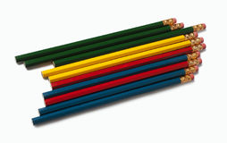 Pencils on white background Royalty Free Stock Image