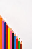 Pencils on white. Space for text Royalty Free Stock Photos